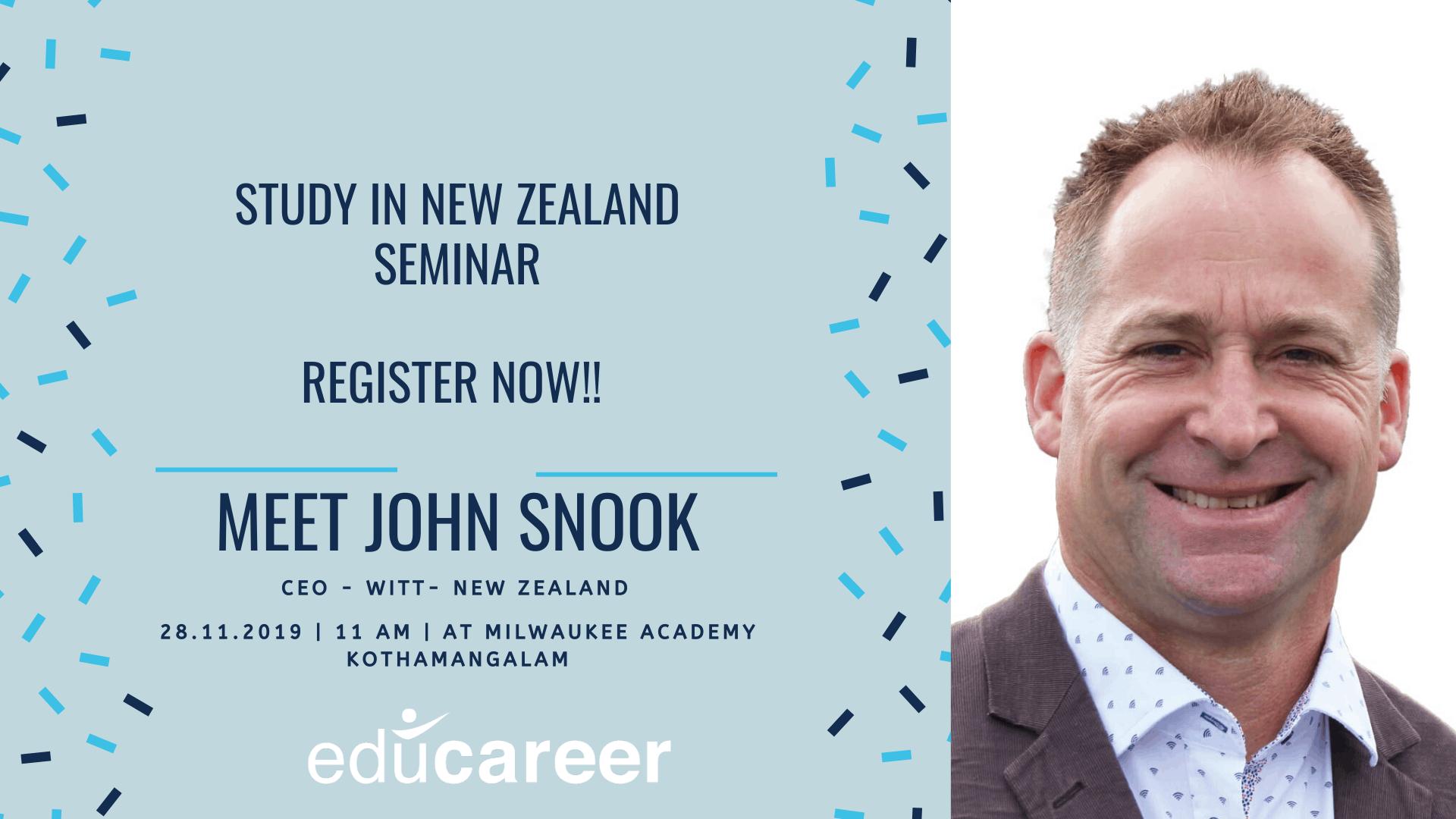 Seminar in Kothamangalam – John Snook, CEO – WITT New Zealand