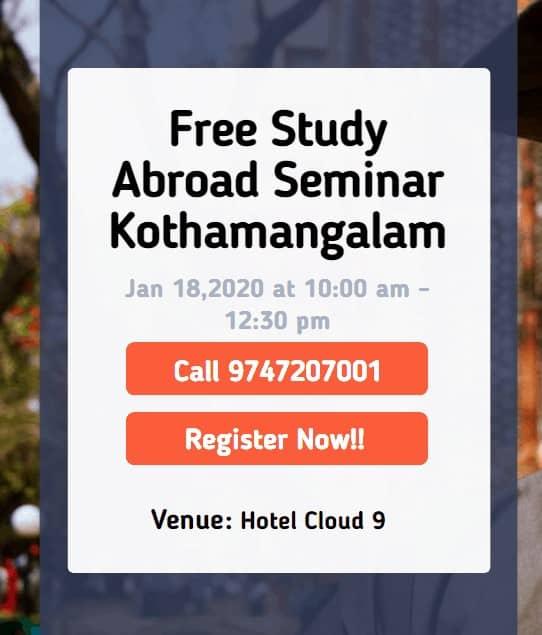 Free Study Abroad Seminar at Kothamangalam