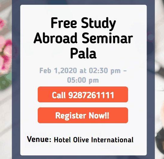 Free Study Abroad Seminar at Pala