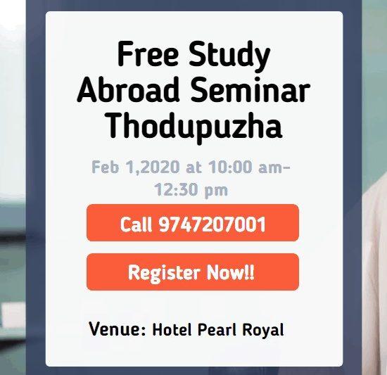 Free Study Abroad Seminar at Thodupuzha