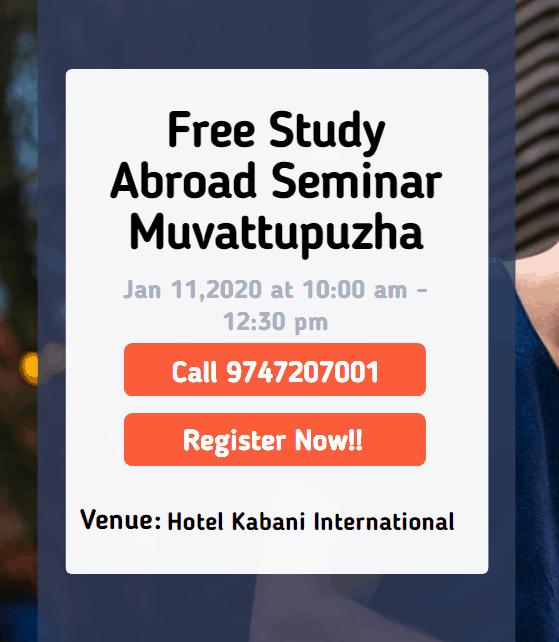 Free Study Abroad Seminar at Muvattupuzha